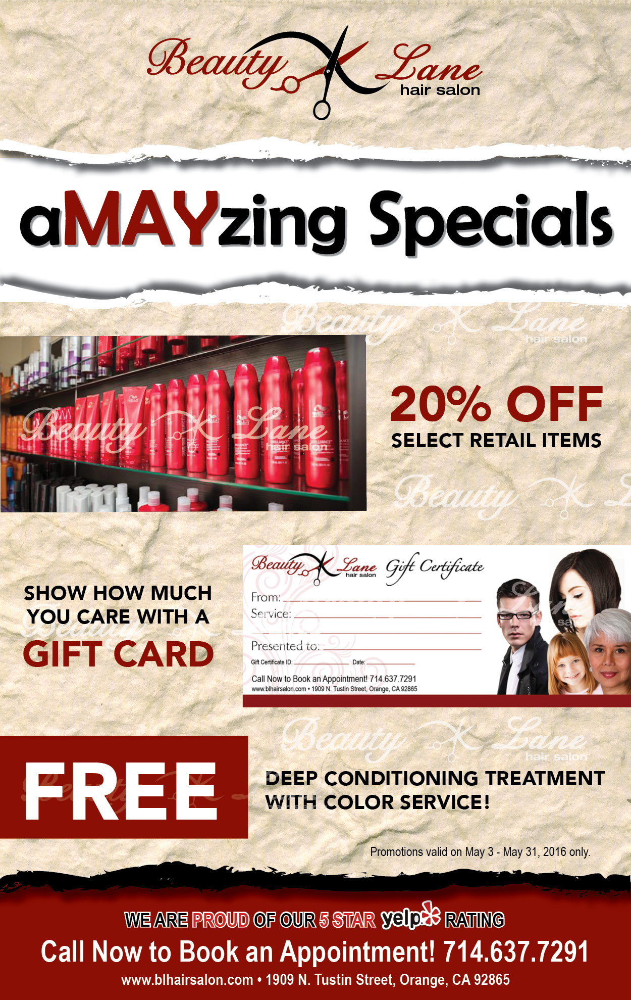 BL May2016 Amayzing Specials